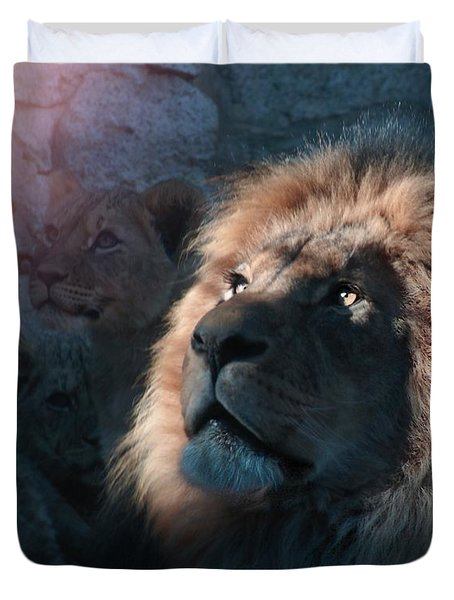Lion Light Duvet Cover