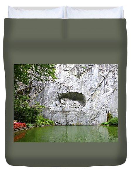 Lion Of Lucerne Duvet Cover