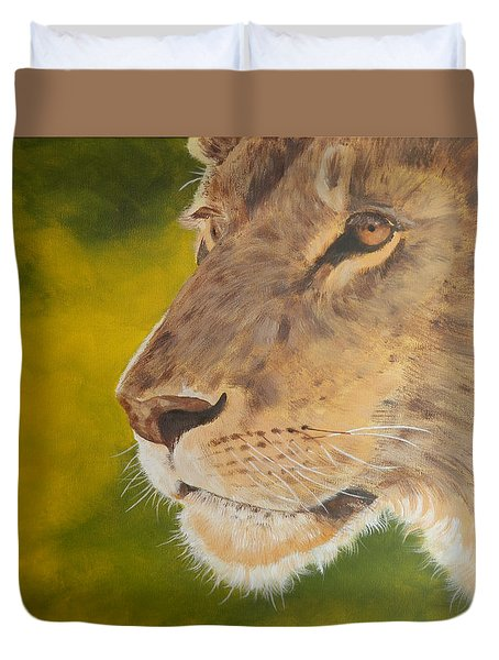 Lion Portrait Duvet Cover