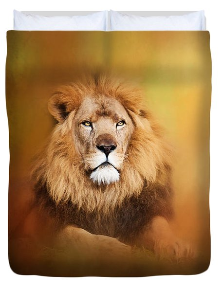 Lion - Pride Of Africa I - Tribute To Cecil Duvet Cover