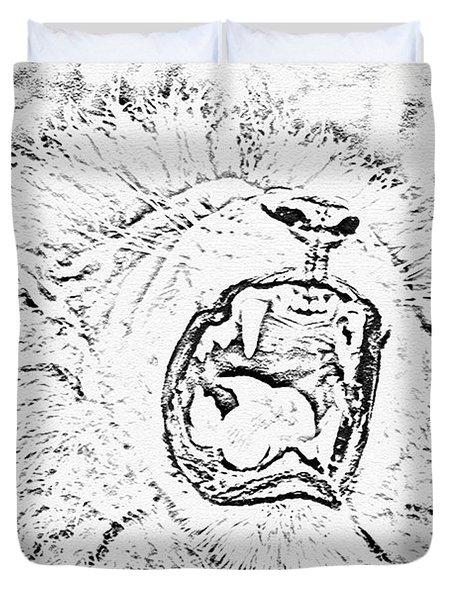 Lion Roar Drawing Duvet Cover