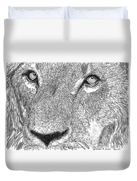 Lion Sketch Duvet Cover