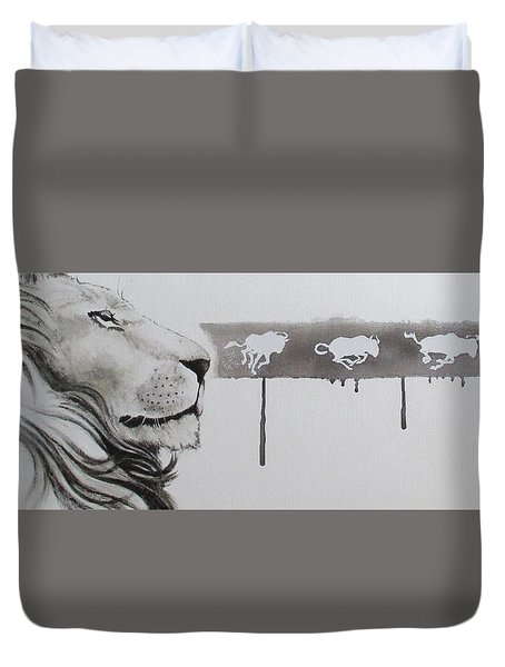 Lion Tears Duvet Cover
