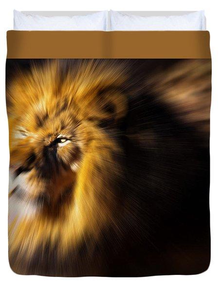 Lion The King Is Comming Duvet Cover