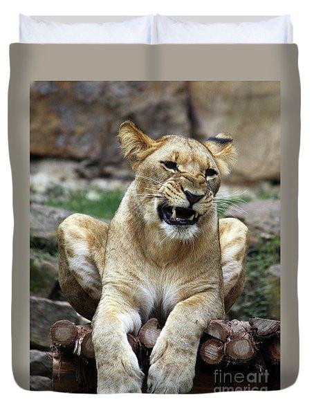 Lioness 2 Duvet Cover