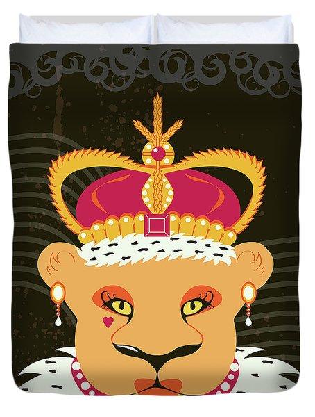 Lioness Queen Duvet Cover