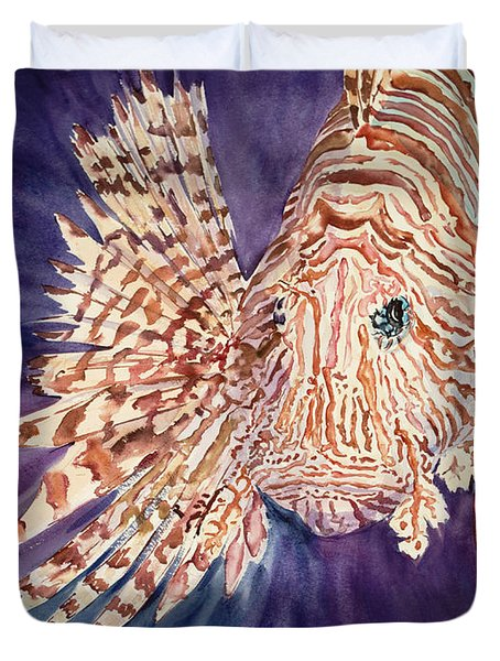 Lionfish Duvet Cover by Tanya L. Haynes - Printscapes