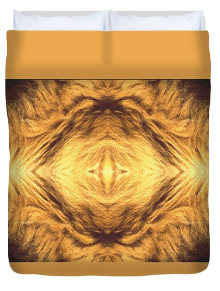 Lion's Eye Duvet Cover by Maria Watt