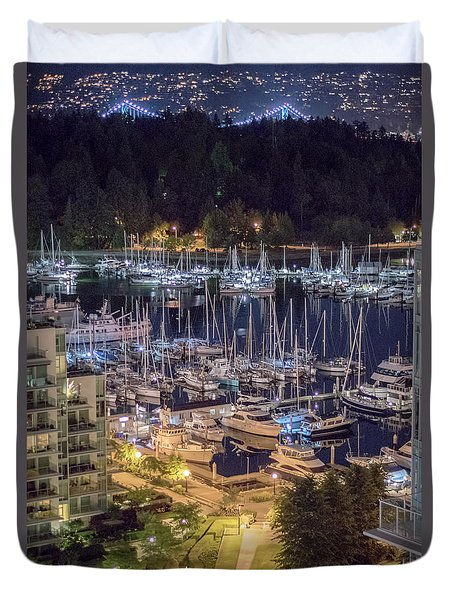 Lions Gate Bridge And Stanley Park Duvet Cover by Ross G Strachan