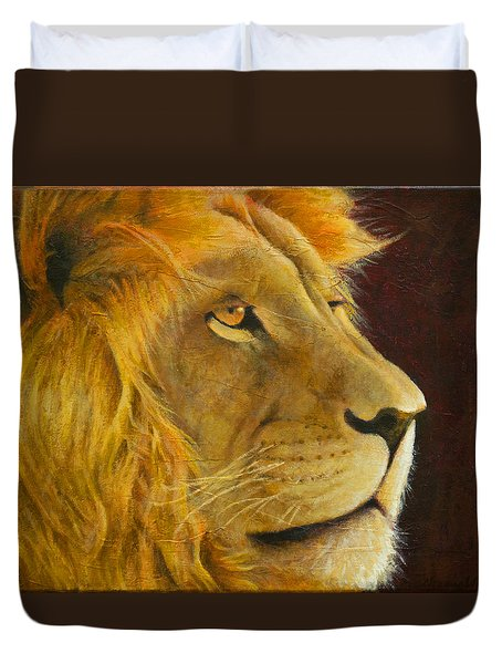 Lion's Gaze Duvet Cover