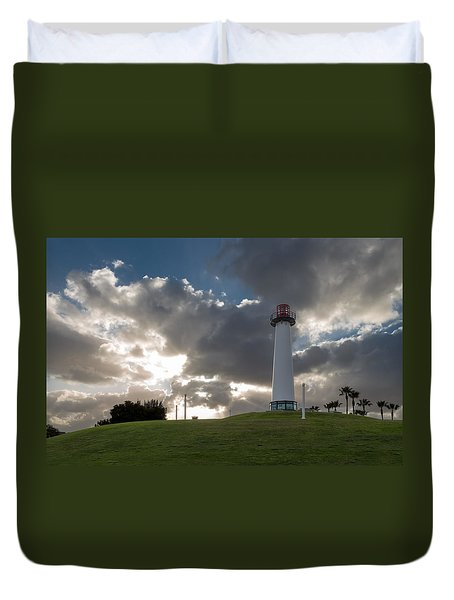Lion's Lighthouse For Sight - 2 Duvet Cover