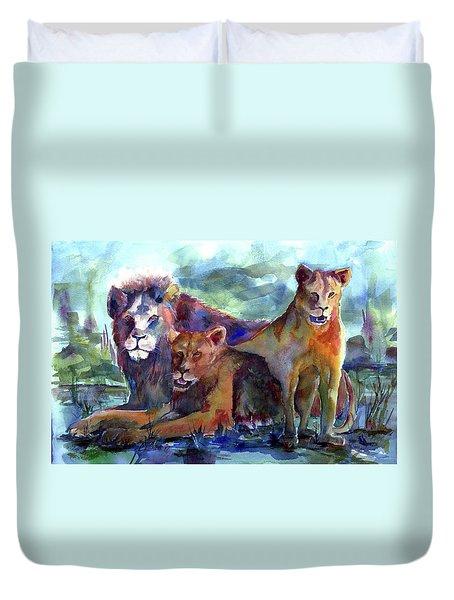 Lion's Play Duvet Cover