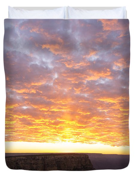 Lipon Point Sunset 3 - Grand Canyon National Park - Arizona Duvet Cover by Brian Harig