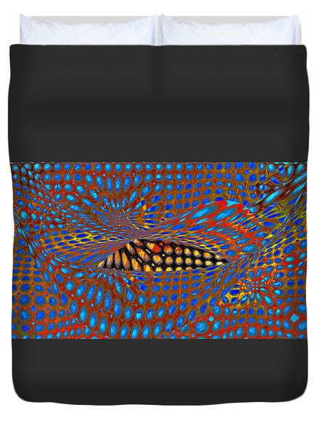 Lippy Again Duvet Cover by Constance Krejci