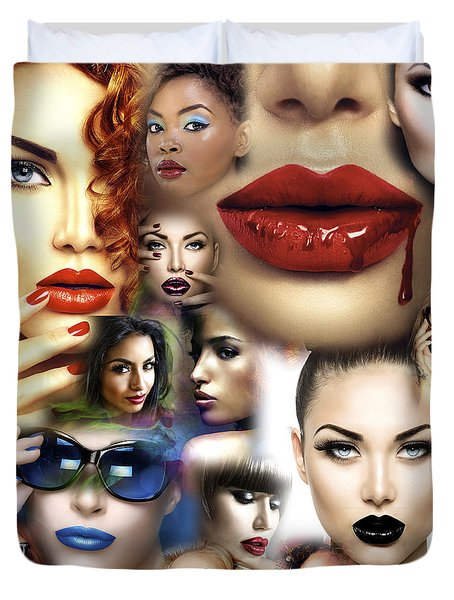 Lips Culture Duvet Cover