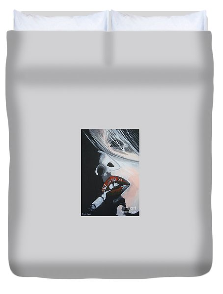 Lips Like Cherries Duvet Cover by Stuart Engel