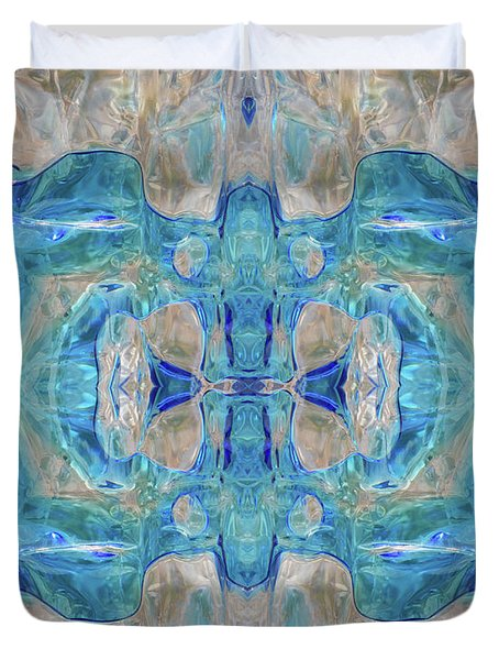 Duvet Cover featuring the digital art Liquid Abstract  #0060-1 by Barbara Tristan