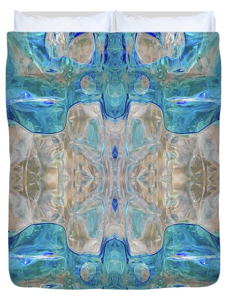 Duvet Cover featuring the digital art Liquid Abstract  #0060-2 by Barbara Tristan
