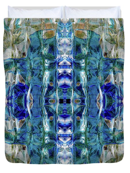 Duvet Cover featuring the digital art Liquid Abstract #0061-2 by Barbara Tristan