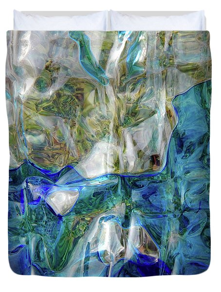 Duvet Cover featuring the photograph Liquid Abstract #0061 by Barbara Tristan