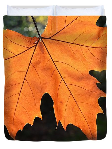 Liquid Amber Leaf Duvet Cover