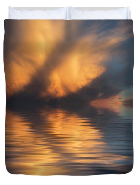 Liquid Cloud Duvet Cover by Jerry McElroy