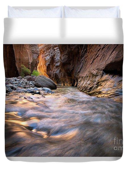 Liquid Gold Utah Adventure Landscape Photography By Kaylyn Franks Duvet Cover
