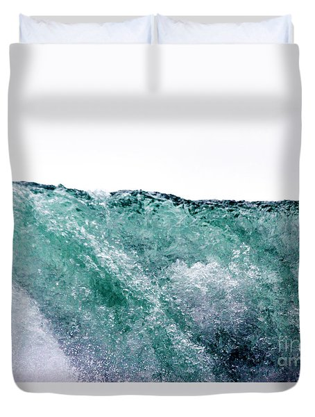 Duvet Cover featuring the photograph Liquid Horizon by Dana DiPasquale