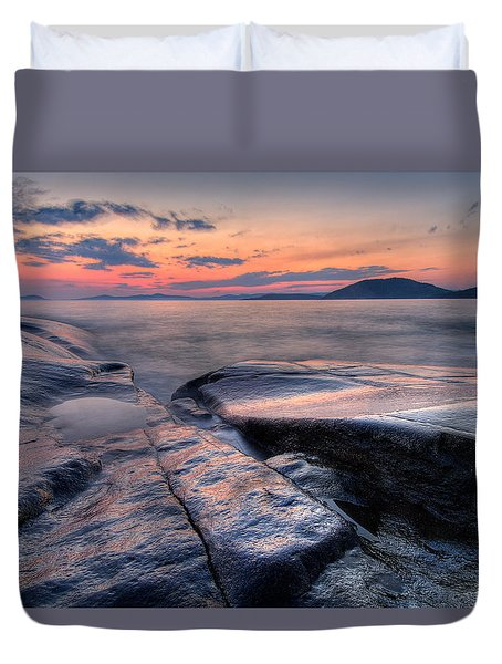 Liquid Lagoon  Duvet Cover