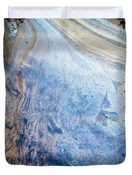 Liquid Oil On Water With Marble Wash Effects Duvet Cover