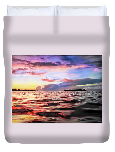 Liquid Red Duvet Cover