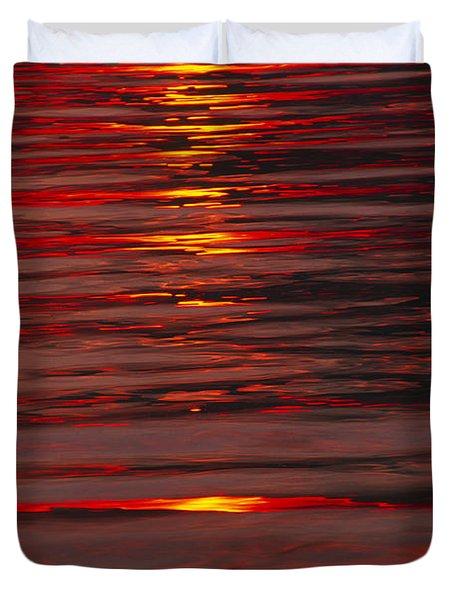 Liquid Sunset - Lake Geneva Wisconsin Duvet Cover