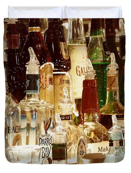 Liquor Bottles Duvet Cover by Methune Hively