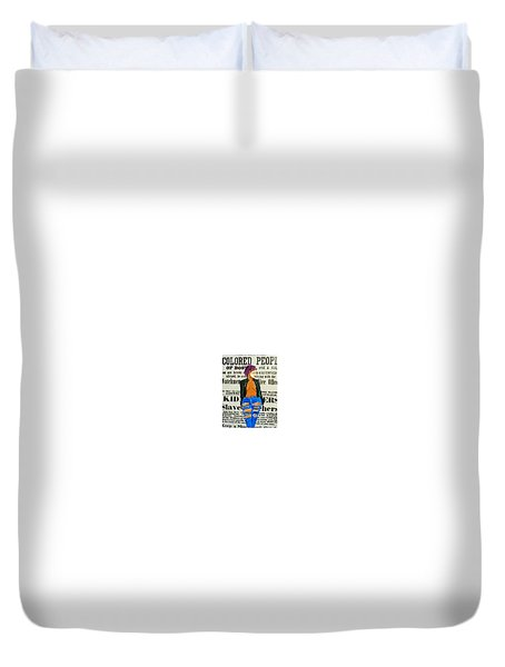 Lisa  Caution Duvet Cover