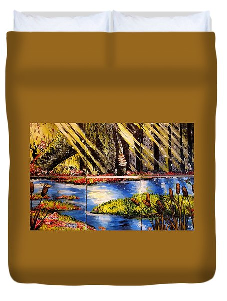 Lisas Neck Of The Woods Duvet Cover