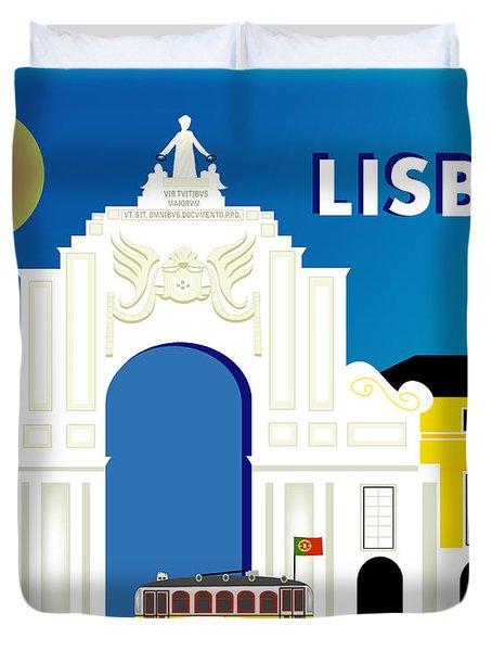Lisboa Lisbon Portugal Horizontal Scene Duvet Cover