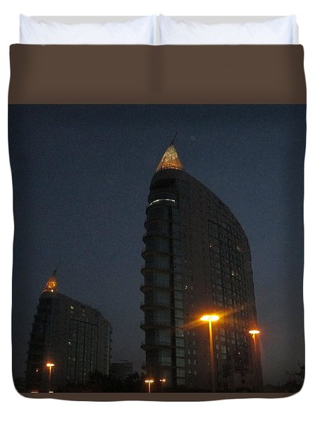 Lisbon By Night Duvet Cover