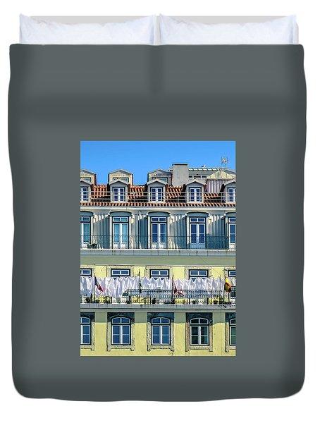 Lisbon Laundry Duvet Cover by Marion McCristall