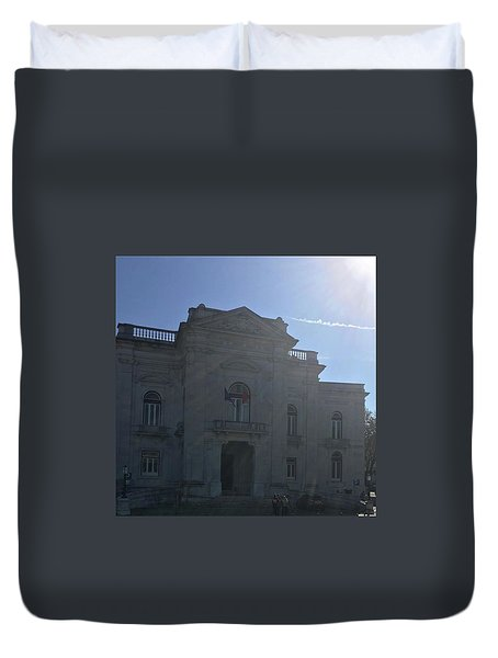 Lisbon - University Duvet Cover by Dannise Masiglat