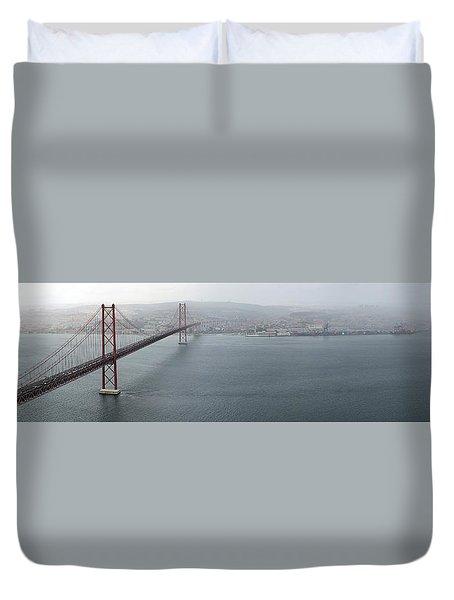 Lisbon On A Foggy Day Duvet Cover