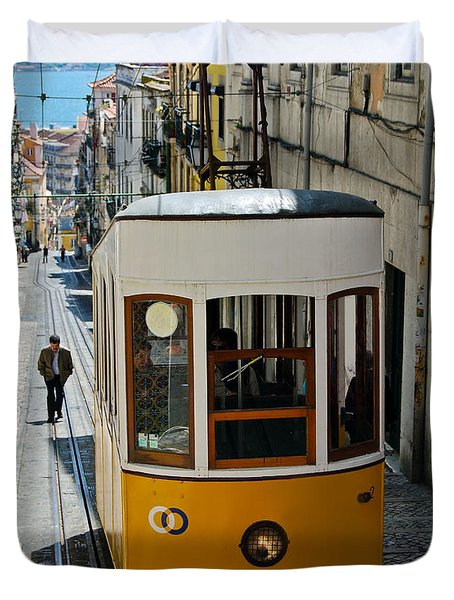 Lisbon - Portugal - Elevador Da Bica Duvet Cover