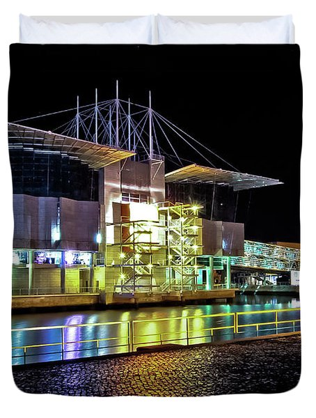 Lisbon - Portugal - Oceanarium At Night Duvet Cover