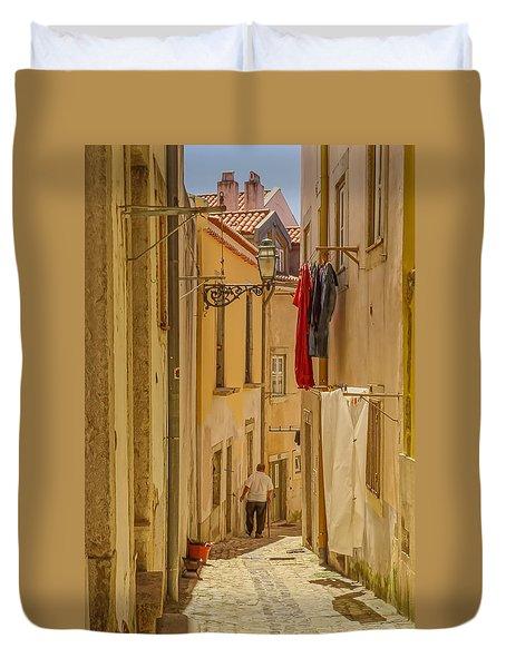 Lisbon Street # 1 Duvet Cover