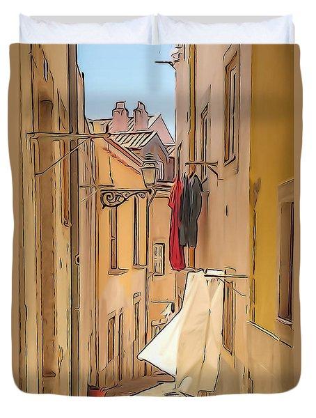 Lisbon Street #2 Duvet Cover
