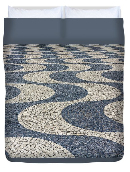 Duvet Cover featuring the photograph Lisbon Street by Patricia Schaefer