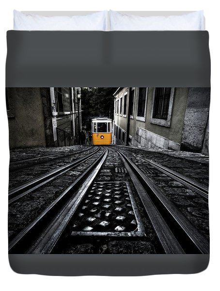 Lisbon Tram Duvet Cover by Jorge Maia