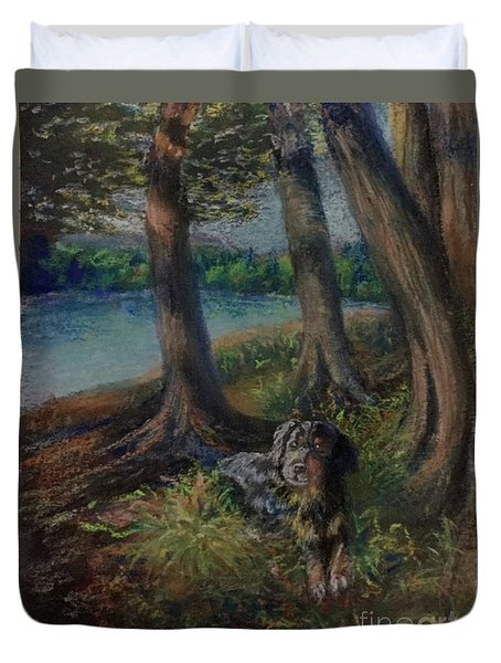 Listening To The Tales Of The Trees Duvet Cover