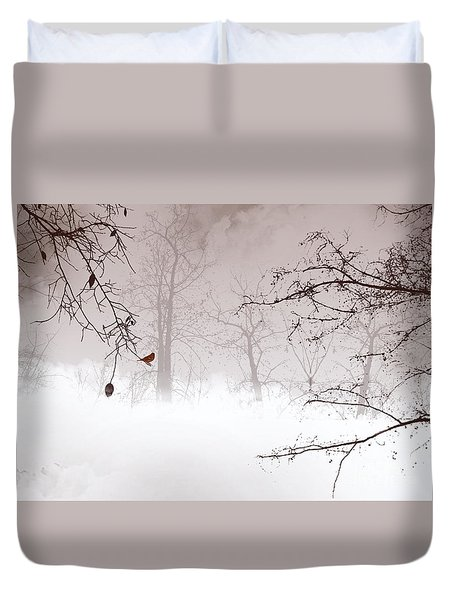 Listening Duvet Cover by Trilby Cole