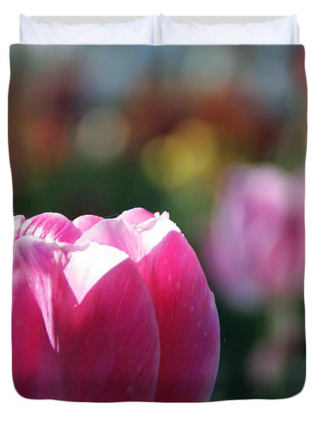 Lit Tulip 04 Duvet Cover by Andrea Jean