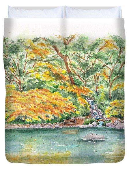 Lithia Park Reflections Duvet Cover
